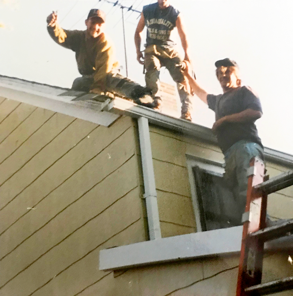"""The Boys"", way back when in the early days, sometime in the early 90's before Shingle it Two first began."