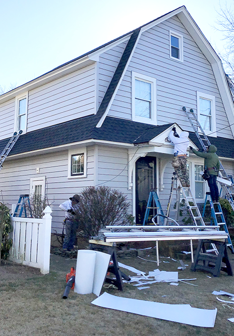 AFTER - New Roof, New Siding, New Gutters - Babylon, NY